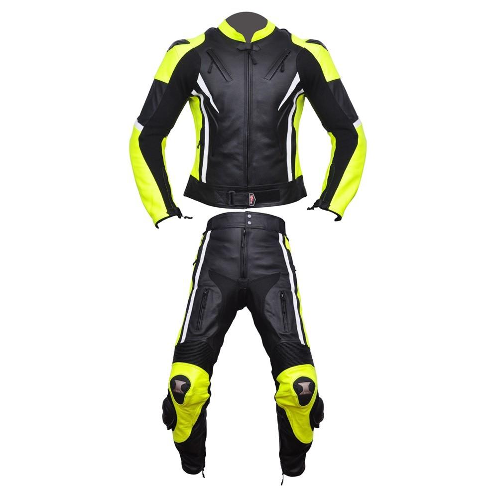81679ffdedd Mono de moto 2 piezas Compilo CM-1070 color negro-blanco-amarillo ...
