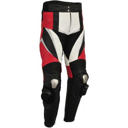Pantalón de cuero Goyamoto GM-150 rojo