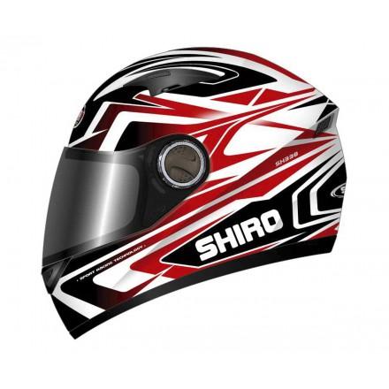 Casco integral de fibra Shiro SH-338 Sepang negro-rojo