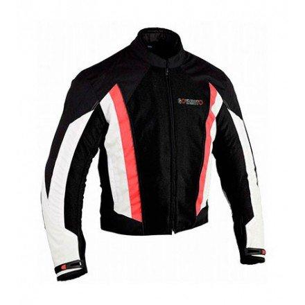 Chaqueta de cordura para verano Goyamoto GM-127 color rojo-negro-blanco