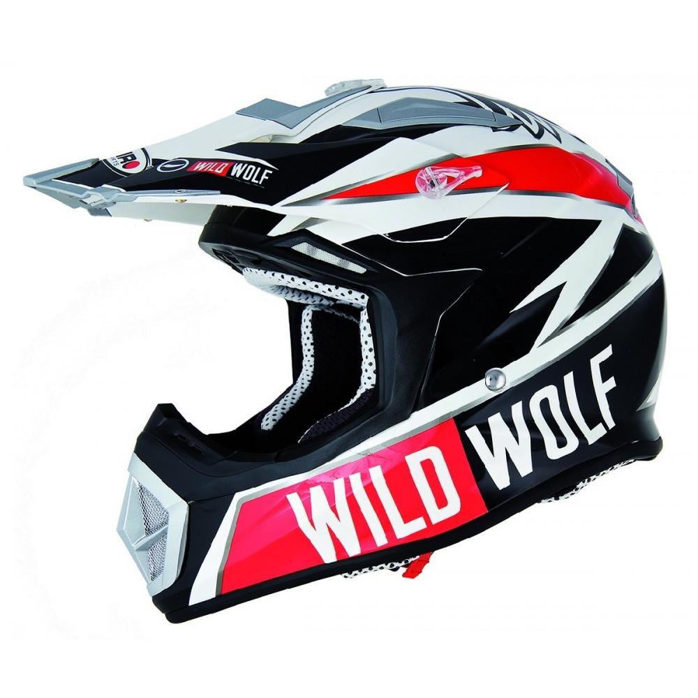 100% de alta calidad 2019 real primer nivel Casco de moto Shiro cross MX-912 Wild Wolf