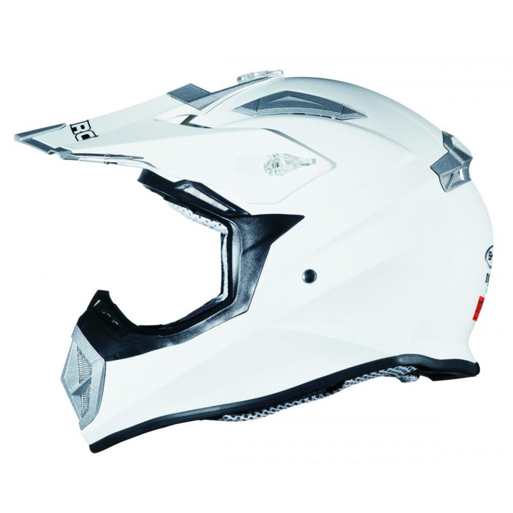 23f1afd4 Casco de moto Shiro cross MX-912 monocolor blanco barato