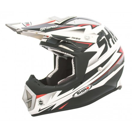 Casco Shiro cross MX-912 Thunder negro