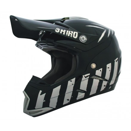 Casco Shiro cross MX-305 Scorpion monocolor negro