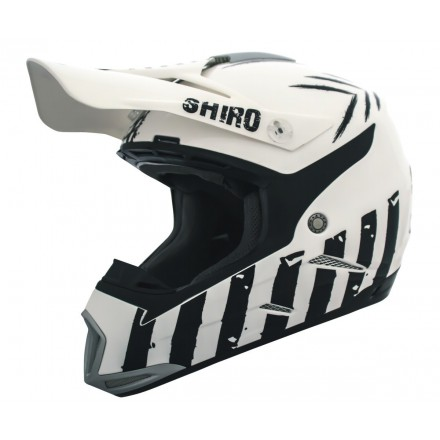 Casco Shiro cross MX-305 Scorpion color blanco