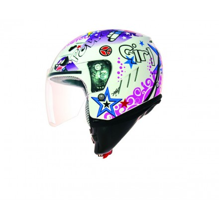 Casco Shiro SH-20 Tres Chic blanco
