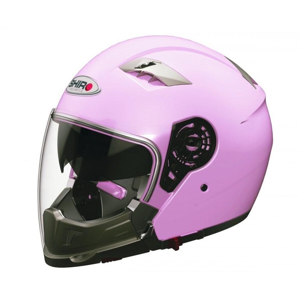 6742a52eda45e Casco de moto jet convertible Shiro SH-414 System color rosa