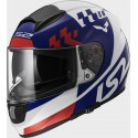 Casco integral LS2 FF397.21 Vector FT2 Podium White Blue Red