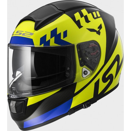 Casco integral LS2 FF397.21 Vector FT2 Podium Hi-Vis Yellow Black
