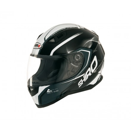 Casco integral Shiro SH-881 Motegi Negro-Blanco