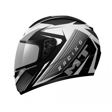 Casco integral MT Thunder Axe White-Grey