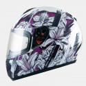 Casco integral MT Thunder Wild Garden Gloss Pearl White-Purple