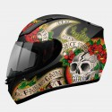 Casco integral MT Revenge Skull & Rose Gloss Black-Red