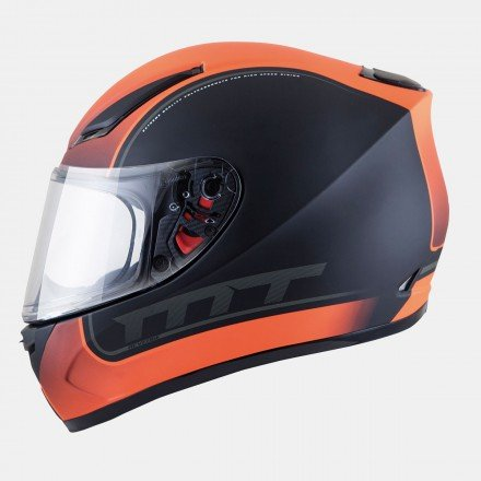 Casco integral MT Revenge Binomy Black-/White-FLuor Orange