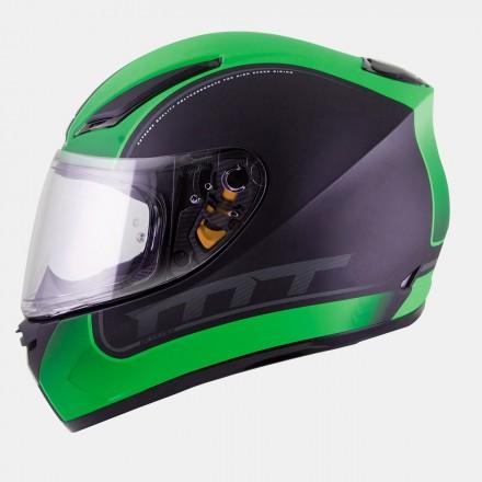Casco integral MT Revenge Binomy Gloss Black-White-Fluor Green