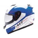 Casco integral MT Blade SV Boss White Blue