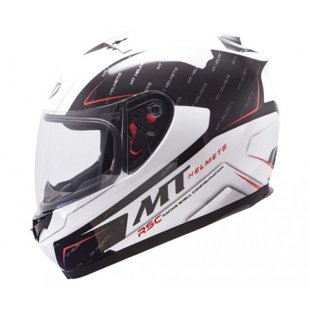 Casco integral MT Blade SV Boss White Black