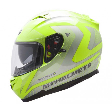 Casco integral MT Blade SV Reflexion Fluor Yellow