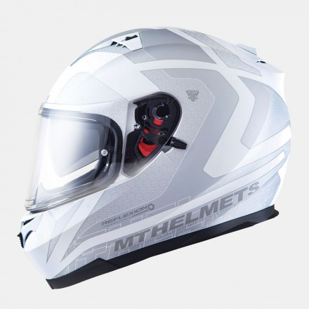 Casco integral MT Blade SV Reflexion Gloss White-Silver