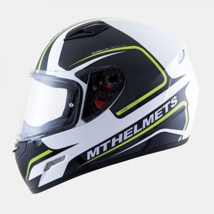 Casco integral MT Mugello Jerome Gloss White Fluor Yellow