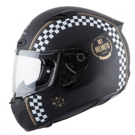 Casco integral MT Matrix Cafe Racer Matt Black