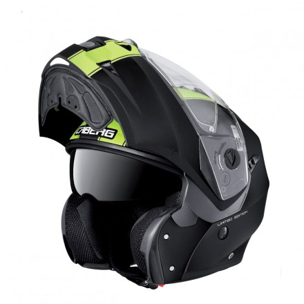 Casco modular Caberg Duke Legend Matt Black-Yellow Fluo