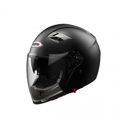 Casco moto Shiro SH-414 System Convertible negro mate