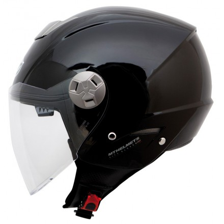 Casco jet MT City Eleven SV Solid Matt Black