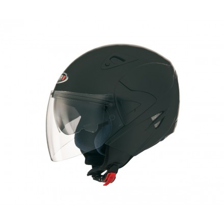 Casco jet SHIRO SH-60 Ice negro mate
