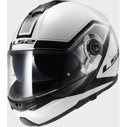 Casco modular LS2 FF325.20 Strobe Civik White Black