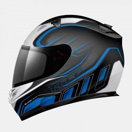 Casco integral MT Blade SV Alpha Gloss Black/White/Blue