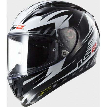 Casco integral LS2 FF323.25 Arrow R Matrix Black White