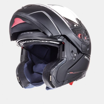 Casco modular MT Atom Solid Matt Black