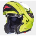 Casco modular MT Atom Solid Gloss Fluor Yellow