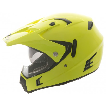Casco Shiro cross MX-311 Tourism amarillo flúor