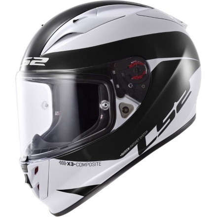 Casco integral LS2 FF323.21 Arrow R Comet Blanco / Negro Edición Limitada