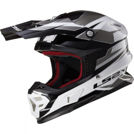 Casco cross LS2 MX456 Light Factory White / Black / Titanium