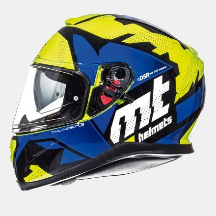 Casco integral MT Thunder 3 SV Torn Gloss Fluor Yellow Blue