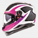 Casco integral MT Blade SV Morph Gloss Pearl White Fushia Grey