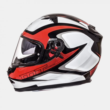 Casco integral MT Blade SV Morph Gloss Pearl White Red Grey