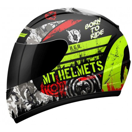 Casco integral MT Kids Thunder Sniper Matt Black Flúor Yellow