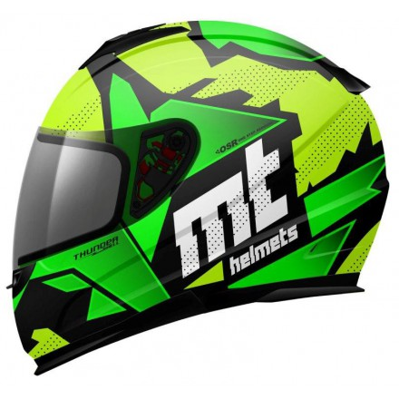 Casco integral MT Kids Thunder Torn Flúor Yellow Flúor Green