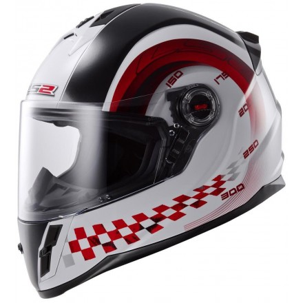 Casco integral LS2 FF392J Chrono White Red