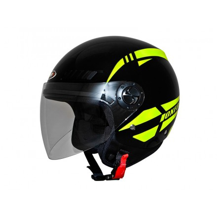 Casco jet SHIRO SH-62 Oxford Black Yellow