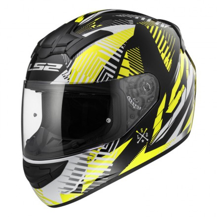 Casco integral LS2 FF352.54 ROOKIE Infinite White Black Yellow