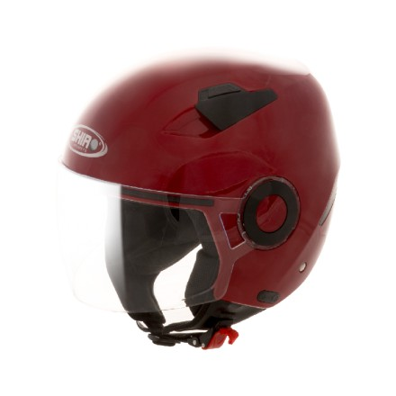 Casco jet SHIRO SH-61 APP rojo metal
