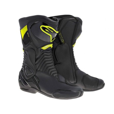 Botas Alpinestars SMX-6 V2 Black-Yellow Fluo