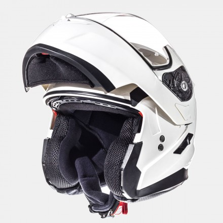 Casco modular MT Flux Solid White
