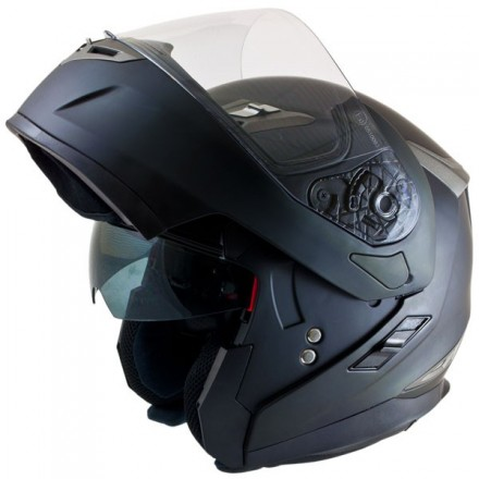 Casco modular MT Flux Solid Matt Black