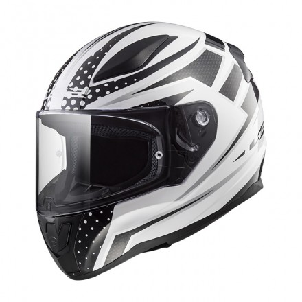 Casco integral LS2 FF353.21 Rapid Carborace White Black